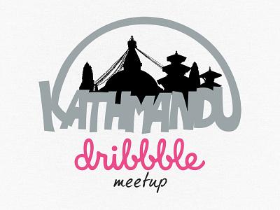 Kathmandu Dribbble Meetup logo dribbblektm kathmandu nepal meetup dribbble