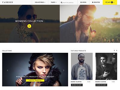 Fashion Store minimal cart product commerce shop store fashion website