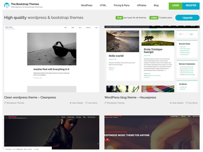 The Bootstrap Themes theme landing page website boostrap