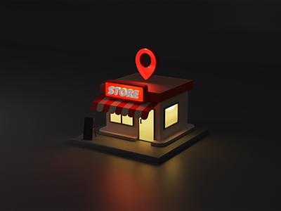Mini Store website app store motion graphics animation capture service product design mini room lighting render design smooth animation blender ux ui dribbble best shot smo 3d
