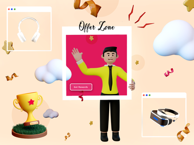 Offer Zone pattern color cool advertice human smooth reach creative banner offer illustration photoshop 2d 3d graphic design animation blender ux ui website