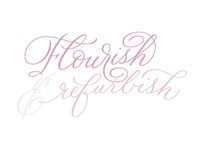 Flourish & Refurbish brush lettering illustration hand-lettering handlettering calligraphy