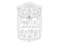 Protect the USPS usps vector hand drawn illustration design logo calligraphic handlettering hand lettering calligraphy
