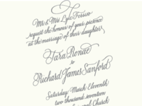 Wedding Invitation, Traditional
