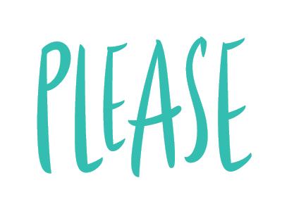 Please brush lettering vector lettering hand lettering hand drawn