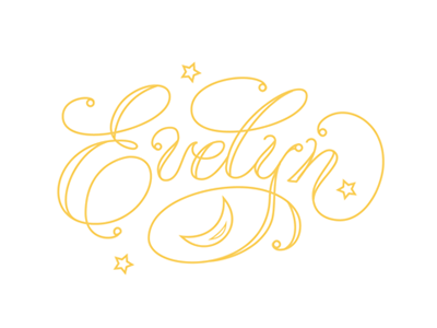 Evelyn vector lettering hand lettering hand drawn