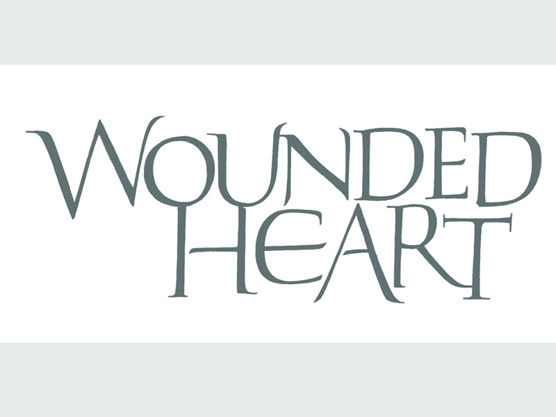 Wounded Heart Title title calligraphic pointed brush calligraphy brush brushlettering handlettering