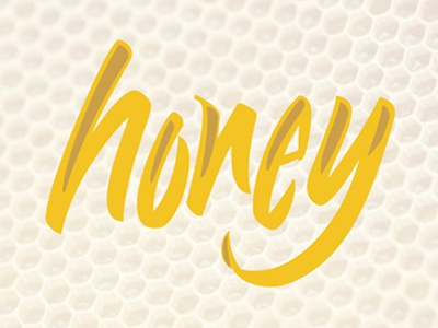 Honey honey brush logo hand lettering calligraphy brush lettering