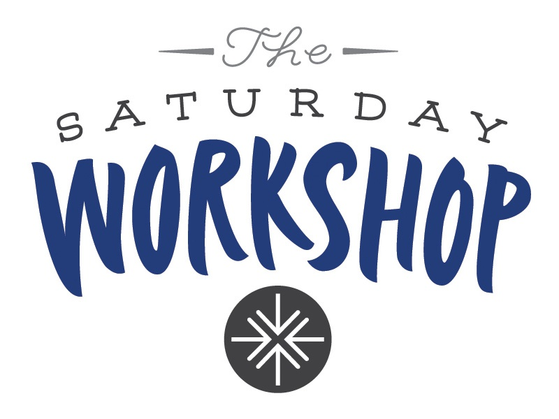 The Saturday Workshop logo title calligraphic pointed brush calligraphy brush brushlettering handlettering