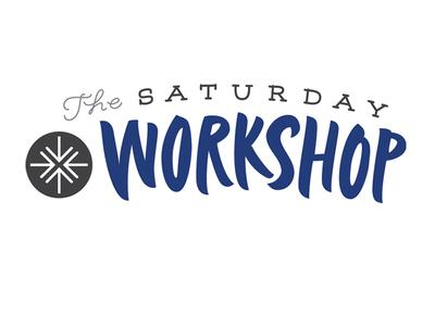 Saturday Workshop, alt version logo title calligraphic pointed brush calligraphy brush brushlettering handlettering