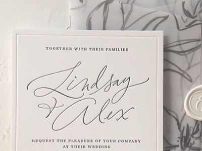 Lindsay's Invitation modern calligraphy pointed pen logo title calligraphic pointed brush calligraphy brush brushlettering handlettering