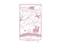 Evelyn's bookplate
