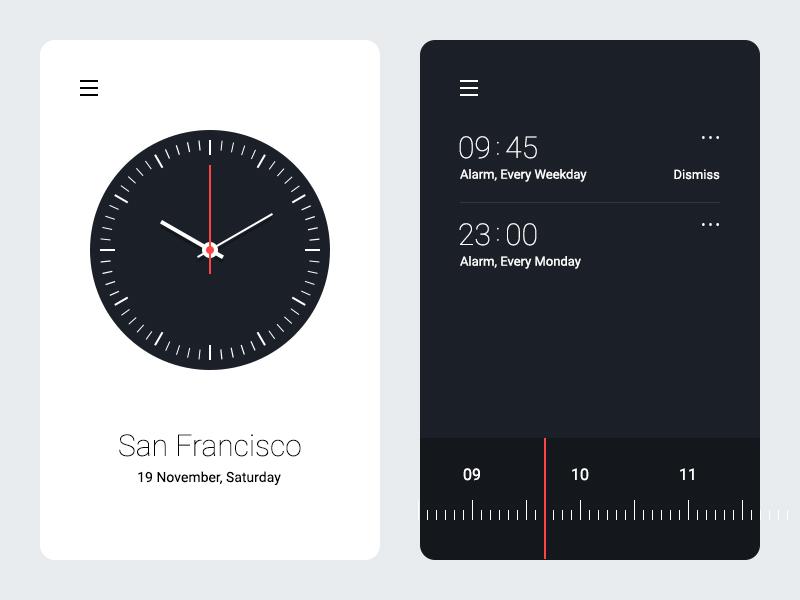 Alarm Clock UI Experiment reminder ui analog alarm clock