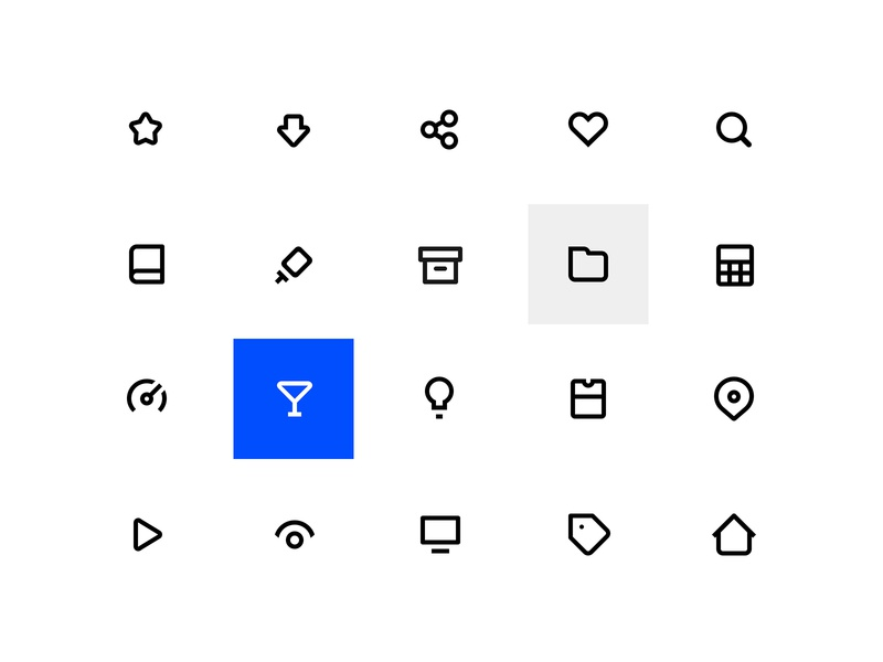 Simple icon set outline minimalist set material design icon