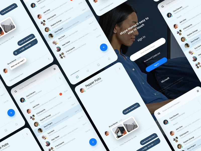yet another redesign interface mobile minimal material ui