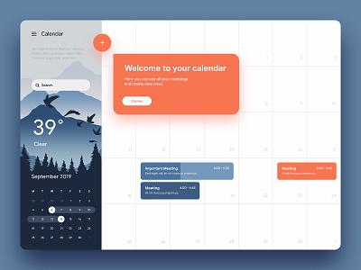 Calendar meeting scheduler weather ux ui calendar