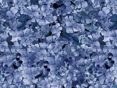 Campanillas azules patrón campanillas azul flores