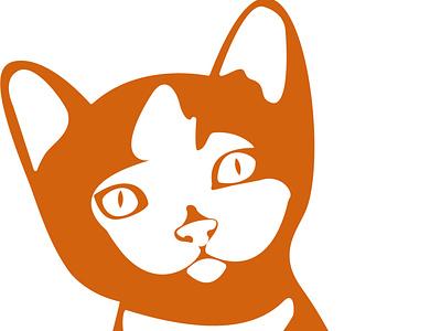 Gatito atento gato icono vector design
