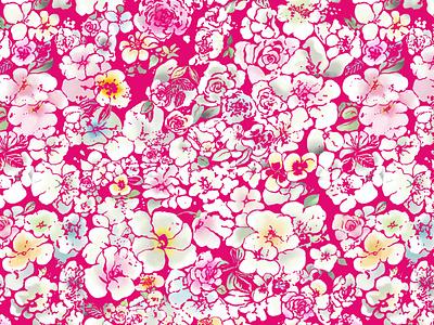 Estampado veraniego rosas flores estampado design
