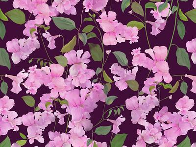 campanillas rosas rosa flores estampado