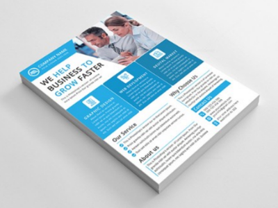Corporate Flyer - Business Flyer - Flyer Design  service  product flyer  leaflet  creative  corporate  company  clean  business flyer  business  agency  advertising   corporate flyer psd professional poster newspaper modern flyer marketing handout a4