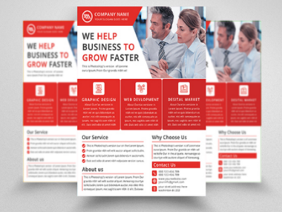Corporate Flyer - Business Flyer - Flyer Design  service  product flyer  leaflet  creative  corporate  company  clean  business flyer  business  agency  advertising   corporate flyer psd professional poster newspaper modern flyer corporate marketing a4