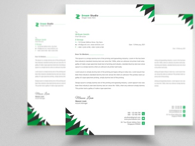 Letterhead Design Template - Stationery Design creative three-dimensional brochure business card branding design corporate identity 2021 letterhead stationery letterhead template corporate letterhead stationary identity professional photoshop namecard design professional business card professional card