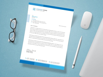 Corporate Letterhead Design - Stationery Design identity three-dimensional brochure business card branding design corporate identity 2021 letterhead stationery letterhead template corporate letterhead outstanding photoshop business card design professional card
