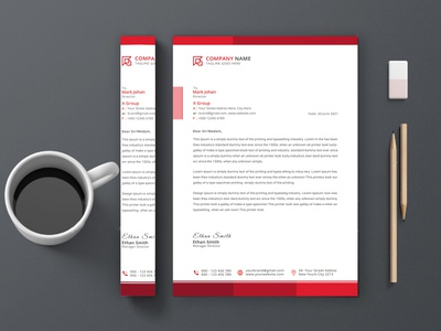 Corporate Letterhead Design - Stationery Design identity logo outstanding three-dimensional brochure business card branding design corporate identity 2021 letterhead stationery letterhead template corporate letterhead professional business card professional card