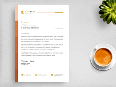 Letterhead Design Template - Stationery Design graphic marketing envelope corporate businesscard folder elegant docx document three-dimensional brochure business card branding design corporate identity 2021 letterhead stationery stationery design letterhead template corporate letterhead