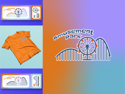 Amusement Park flat design branding icon logo weekly warm-up dribbble dribbbleweeklywarmup