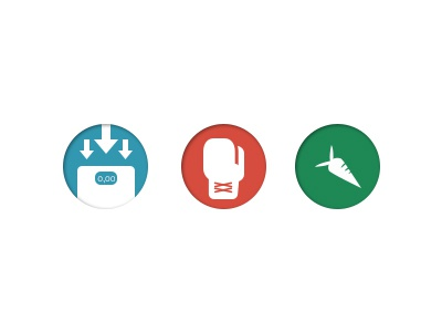 Specialities icons sport icon web circle blue green red