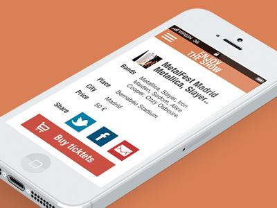 Enjoy the show app app ios ui music show concert flat