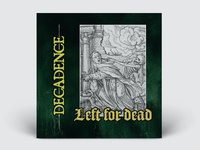 Decadence single cover design illustration print texture metal hardcore music album artwork