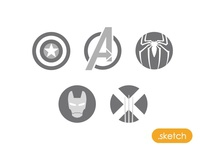 Marvel Icons - Sketch file