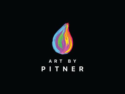 Art By Pitner Logo web icon logo design branding