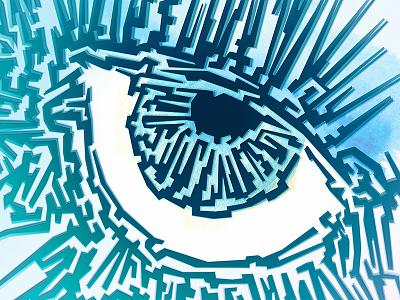 Eye Craquelure illustration artist