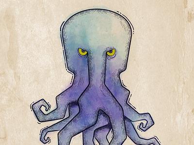 Octopus Purple illustration