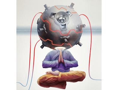 Trapped mind art digital abstract design illustration