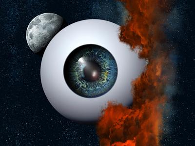Pollution illustration artist poster eyeball pollution eye abstract illustraion art digital illustration