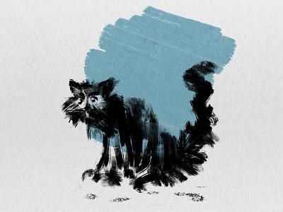 Wet Cat illustration artist illustration abstract art digital