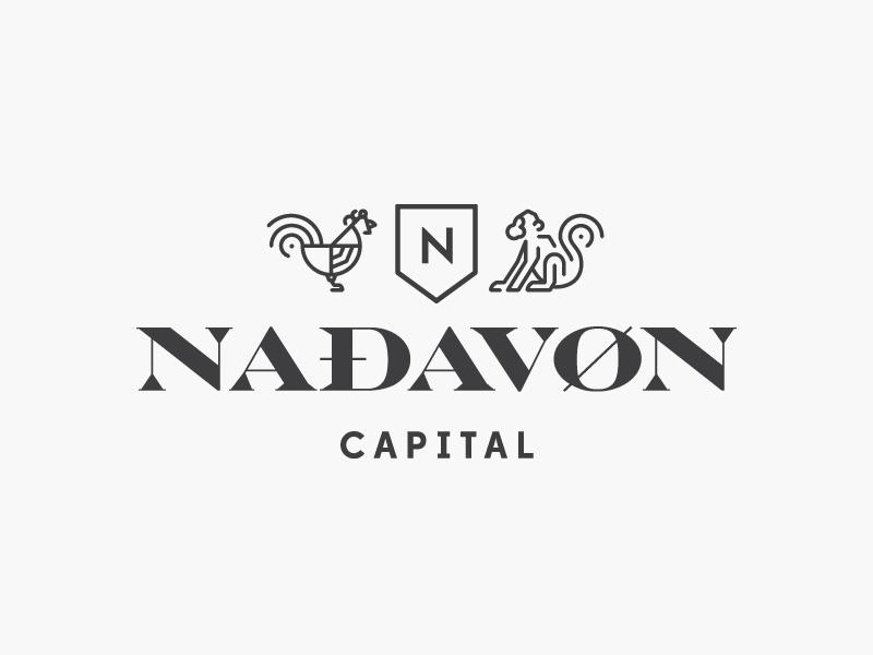 Nadavon Logo logo branding identity minimal financial finance crest clean modern chicken monkey engravers