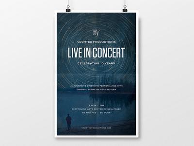 Voortex Productions Live in Concert Poster