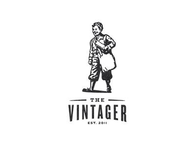 Identity for an online vintage magazine illustration logo identity branding vintage paperboy extra extra wip