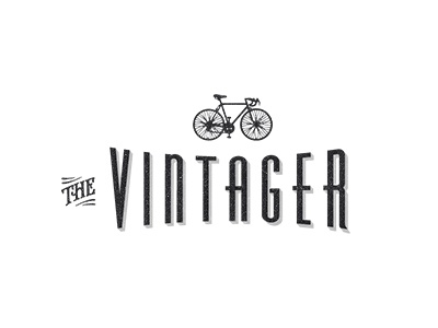 Identity for an online vintage magazine v3 logo identity branding vintage paperboy bicycle wip typography