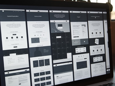Marketing Wireframes – DMB wireframes ui ux information architecture marketing website corporate research