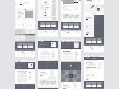 MCC Arts Website Wireframes web design calendar marketing responsive art events wireframes education information architecture ux ui website