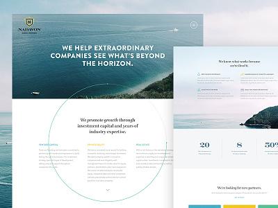 Nadavon Interior Page landing page graph financial typography marketing interior responsive web design photography ui clean website