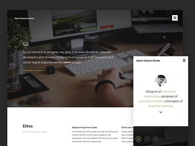 Personal Site Refresh interactive uiux responsive music photography designer redesign refresh website personal portfolio