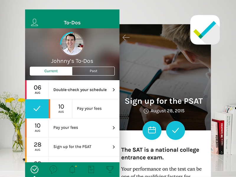 Ready Now Yuma Mobile App education checklist to-do interface mobile android iphone ios mobile app app ux ui